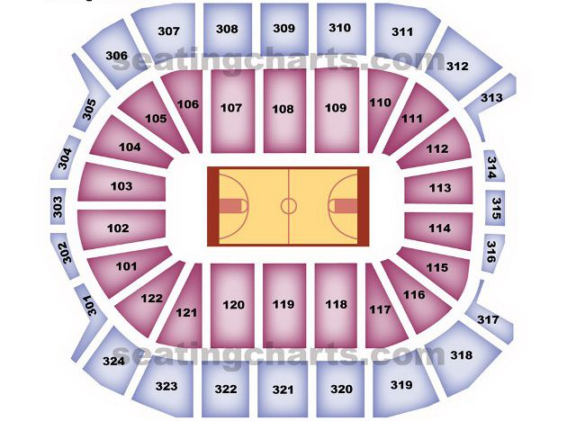 Toronto Raptors Seating Chart for Air Canada Centre